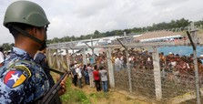 Myanmar police open fire in Rohingya camp for IDPs