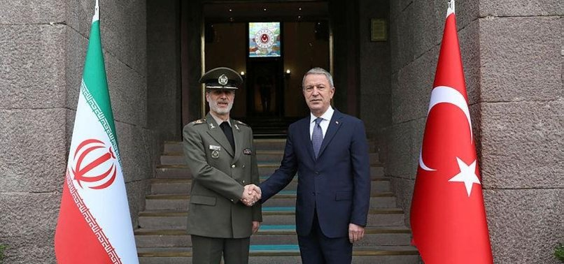 TURKISH, IRANIAN DEFENSE CHIEFS MEET IN ANKARA