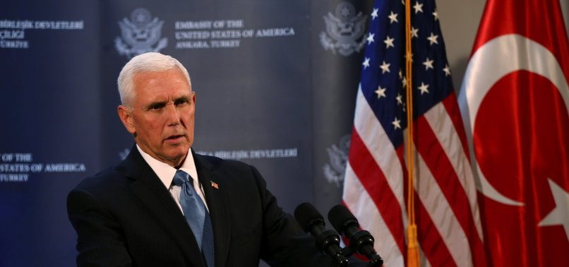 PENCE SAYS US AND TURKEY HAVE AGREED TO A CEASE-FIRE IN SYRIA