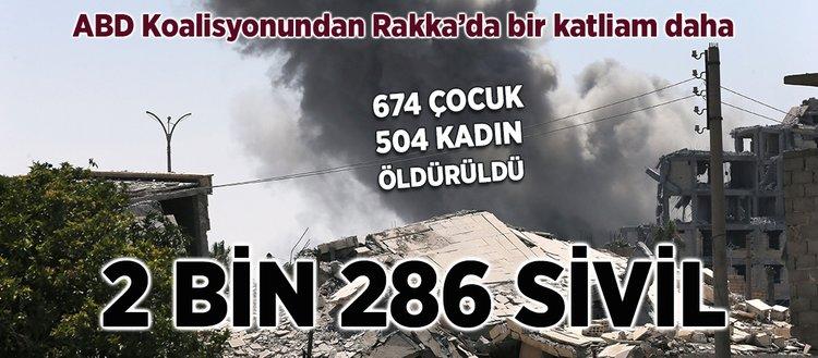 Koalisyon uçağı Rakkada sivilleri vurdu: 14 ölü