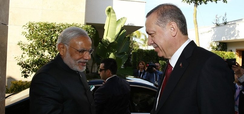 ERDOĞAN, MODI DISCUSS PAKISTAN-INDIA BORDER INCIDENTS