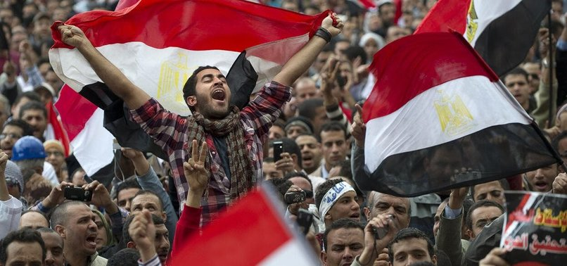 EGYPTIANS POUR INTO STREETS AFTER FRIDAY PRAYERS TO DEMAND DEPARTURE OF AL-SISI
