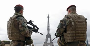 French soldiers on duty for next yellow vest protest
