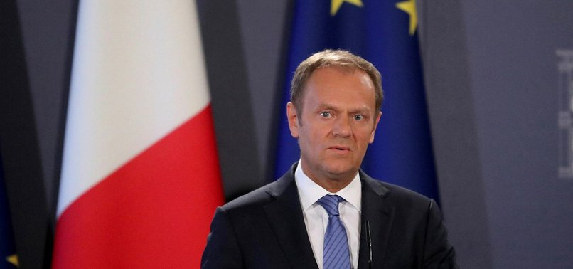 EU CHIEF TUSK URGES EU LEADERS TO GRANT MAY FLEXTENSION