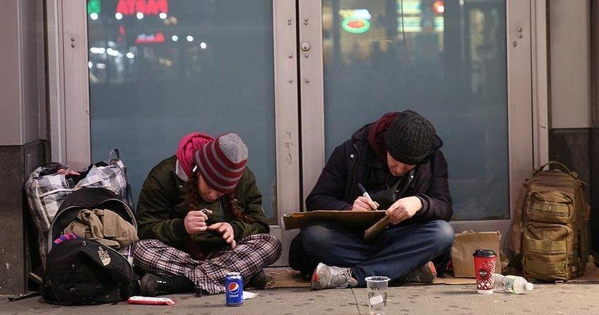 ABDde evsizlerin nüfusu Türkiyede 47 şehri geride bırakıyor