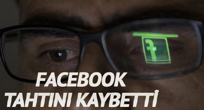 Facebook'un tahtını kaybetti