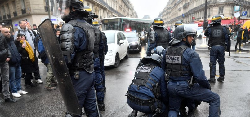FRENCH POLICE USE TEAR GAS TO END PROTEST OVER PENSION REFORM