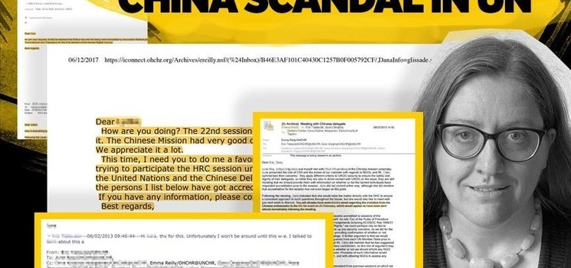 LEAKED EMAILS REVEAL UN SHARED NAMES OF OPPONENTS INCLUDING UIGHUR ACTIVISTS, TIBETANS AND HONGKONGERS WITH CHINA