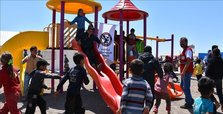 Turkish aid agency inaugurates playground in Idlib