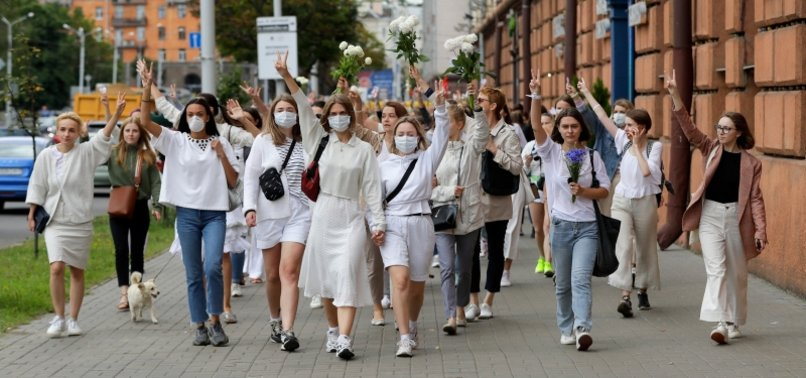BELARUSIAN WOMEN RALLY IN SOLIDARITY WITH INJURED PROTESTERS