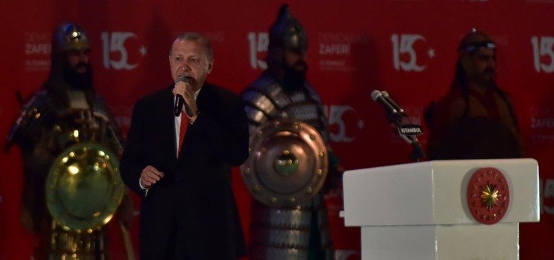 ERDOĞAN SAYS NO NETWORK OF TRAITORS WILL DISRUPT UNITY AND BROTHERHOOD IN TURKEY