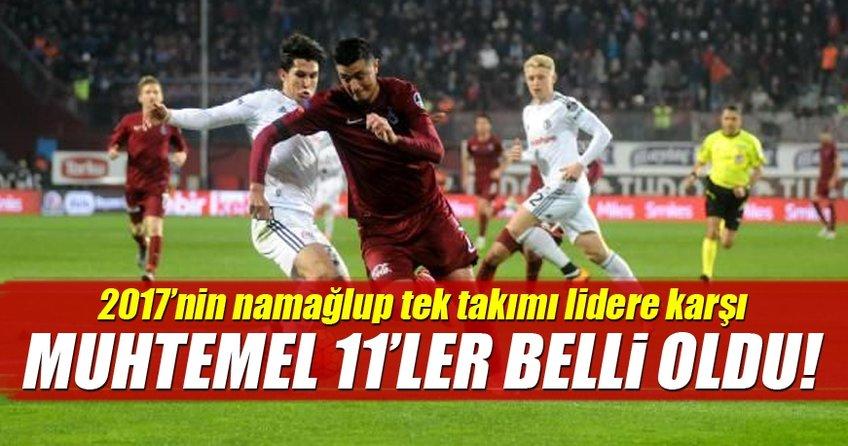 İşte Trabzonspor - Beşiktaş maçı muhtemel 11'leri!