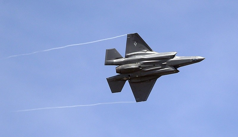 In this file photo an F-35 jet arrives at its new operational base at Hill Air Force Base, in northern Utah. 2015. (AP Photo)
