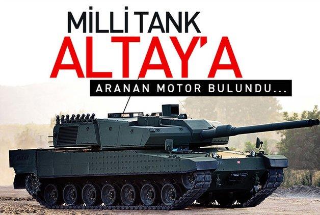 Milli tank Altay için aranan motor bulundu
