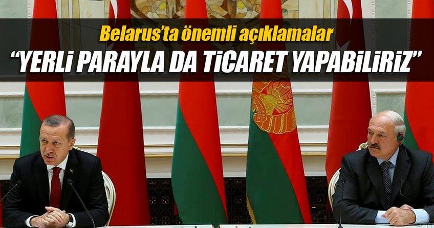 Cumhurbaşkanı Erdoğan'dan Belarus'ta önemli açıklamalar