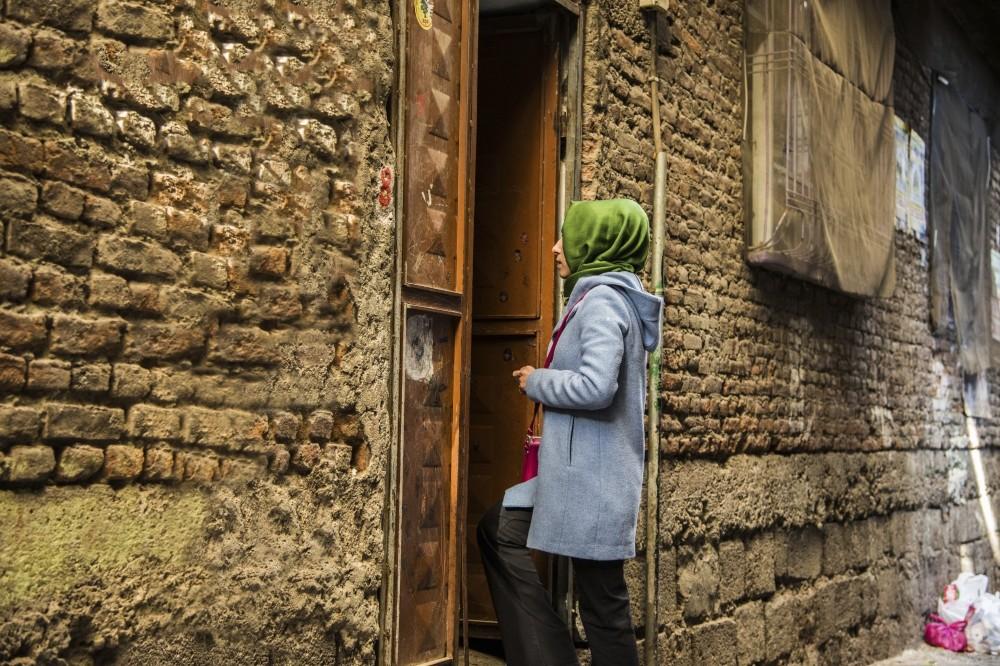 u015eehadet u00c7itil visits local womenu2019s homes to coordinate the initiative.