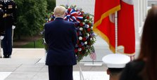 Donald Trump lays Memorial Day wreath at Arlington