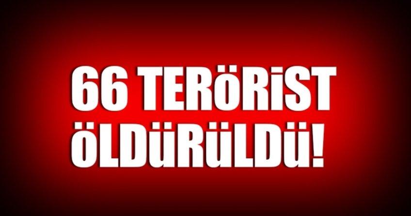 66 terörist daha etkisiz hale getirildi