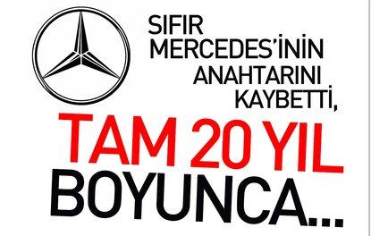 Anahtarını kaybetti; Mercedesi 20 yıl garaja hapsetti!
