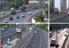 İstanbul boşaldı, yollarda in cin top oynuyor