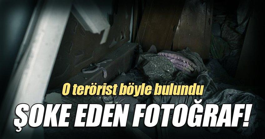 Öldürülen 600 teröristten biri böyle bulundu