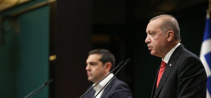 ERDOĞAN SAYS TURKEY-GREECE DISPUTES CAN BE RESOLVED PEACEFULLY