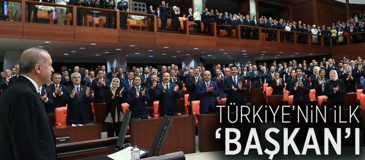 Türkiye'nin ilk 'başkan'ı Erdoğan TBMM'de yemin etti
