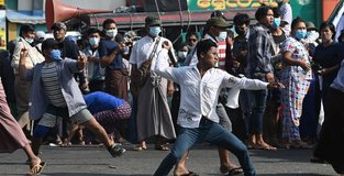 Clashes in Yangon as tensions rise over coup