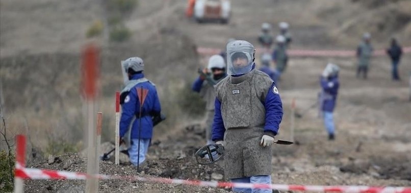 AZERBAIJAN CLEARS MINES FROM AREAS FREED IN KARABAKH