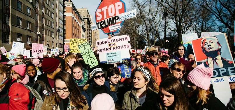 THOUSANDS OF AMERICANS TAKE TO STREETS TO PROTEST DONALD TRUMP