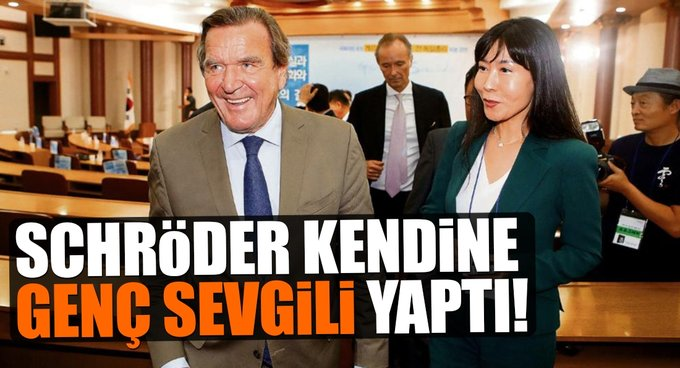 Schröder kendine genç sevili yaptı