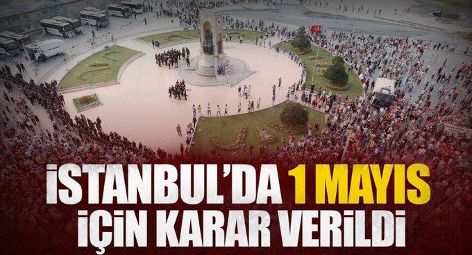 Taksimde 1 Mayıs kutlamalarına izin çıkmadı