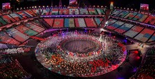 Winter Olympics close with colorful ceremony