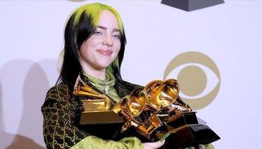 Billie Eilish 62. Grammy Ödülleri'ne Damgasını Vurdu