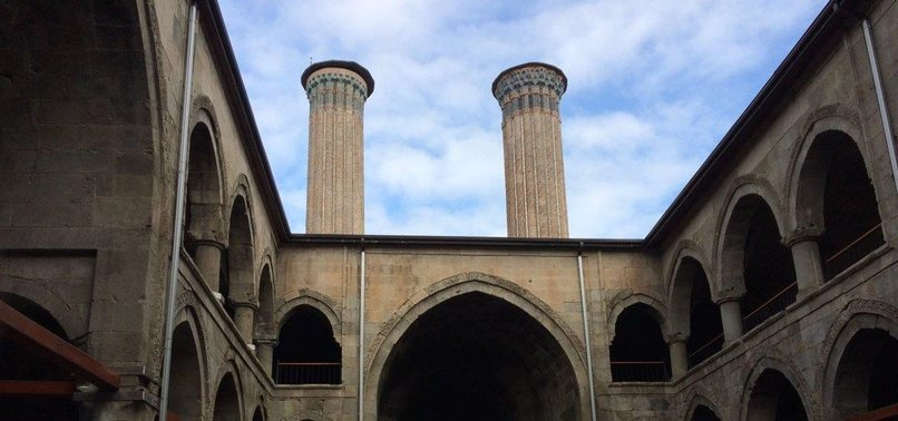 DOUBLE-MINARET MADRASAH IN EAST TURKEY LURES TOURISTS