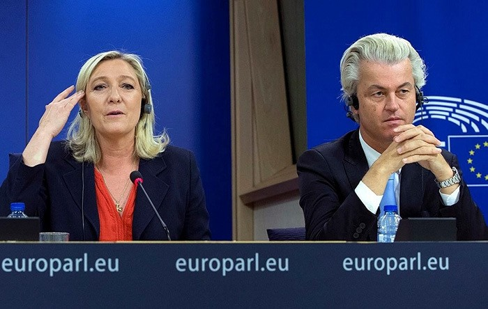France's National Front Political Party head Marine Le Pen, and Netherlands' far-right Party For Freedom Leader Geert Wilders (File Photo)