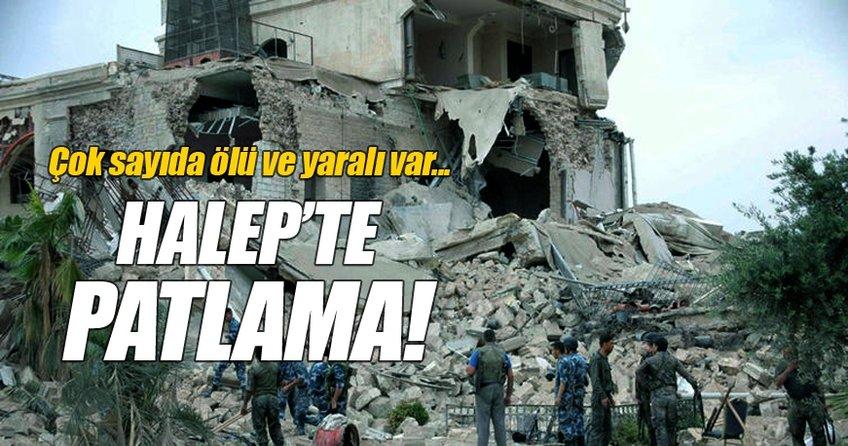 Halep'te patlama meydana geldi!