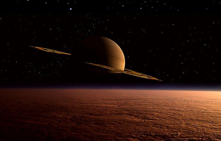 """NASA, Satürn gezegeninin uydusu Titan'ın atmosferinde """"garip bir molekül"""" keşfettiklerini açıkladı."""
