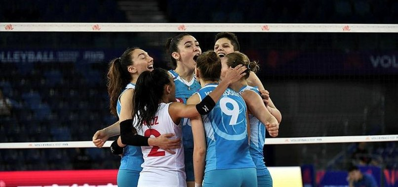TURKEY BEAT POLAND IN WOMENS VOLLEYBALL NATIONS LEAGUE