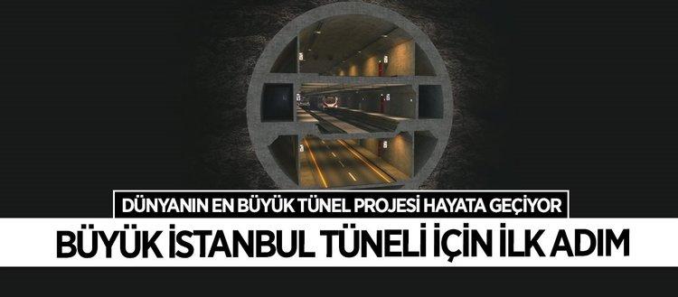 Büyük İstanbul Tüneli projesinde çalışmalar başladı