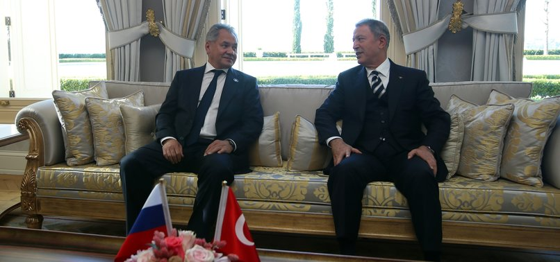 TURKISH, RUSSIAN DEFENSE MINISTERS MEET FOR SYRIA TALKS