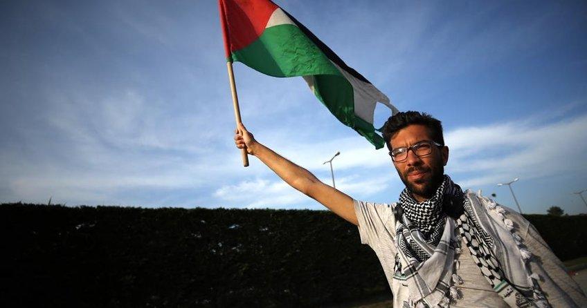 Filistinliler için 8 aydır yürüyor
