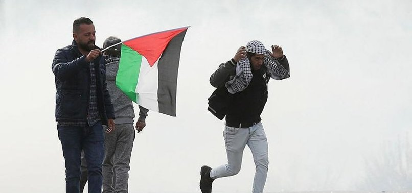 ISRAELI FORCES TEARGAS PALESTINIAN PROTESTERS IN NABLUS
