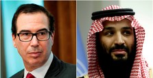 Saudi crown prince, US treasury secretary Mnuchin meet in Riyadh