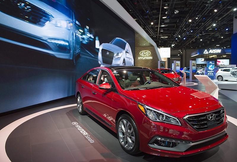 The Hyundai Sonata sedan is seen during the 2017 North American International Auto Show in Detroit, Michigan, January 10, 2017. (AFP Photo)