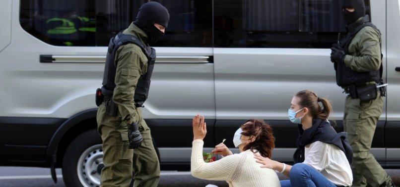 SCORES ARRESTED IN PROTEST AGAINST BELARUS PRESIDENT