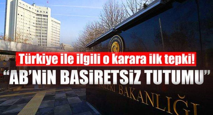 Dışişlerinden AKPMnin kararına tepki!