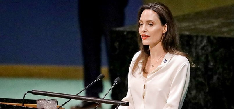 ANGELINA JOLIE AT UN SPEAKS OUT FOR US ENGAGEMENT IN THE WORLD