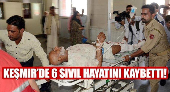 Keşmirde 6 sivil hayatını kaybetti