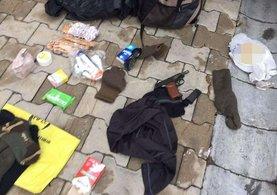 Polise saldıran hainin çantasından bunlar çıktı!